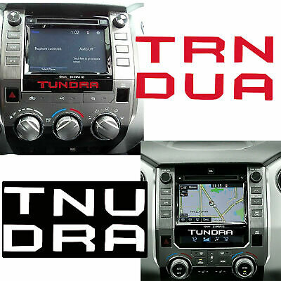 For Toyota Tundra 2014-2019 Multimedia Radio Center Letter Inserts Decal Sticker