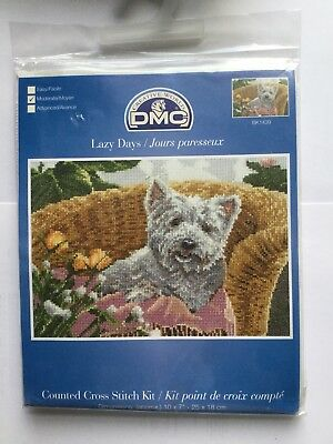 "Cross stitch Kit "" Lazy Days"" New by DMC"