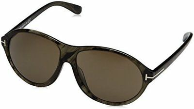 147782032 New Tom Ford Sunglasses FT0398 20B-STRIPED GREY/BROWN Smoke Lens (60/