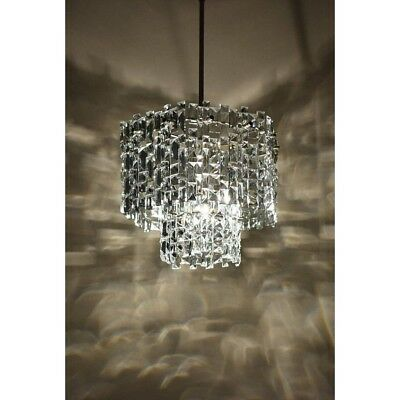 Antique Vintage Crystal Chandelier Home Decor Lighting Glass Plates Old