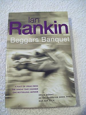 Ian Rankin, Beggars Banquet, uncorrected proof copy