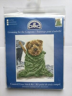 DMC Cross Stitch Kit - Dogs - Grooming For The Gorgeous