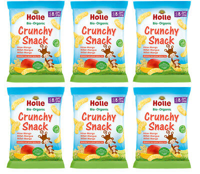 Holle Organic Crunchy Snack Millet-Mango 25g - 6 PACKS