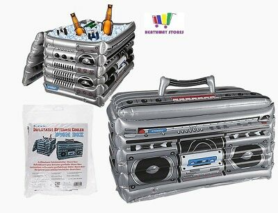 60Cm Inflatable Boom Box Beer Drink Cooler Beach Pool Party Ice Decoration New