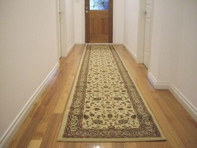 Hallway Runner Hall Runner Rug Traditional Cream 5 Metres Long FREE DELIVERY