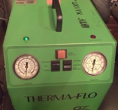 Thermaflo Ac Recovery Unit Oz Saver 4000 Light Refrigerant Hvac (Zz4)
