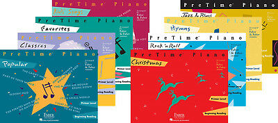 Faber Piano Adventures PreTime (Primer Level) - Set of Eight Supplementary Books