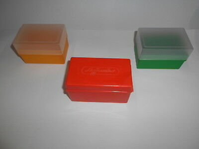 3 X  Projector Slide Boxes