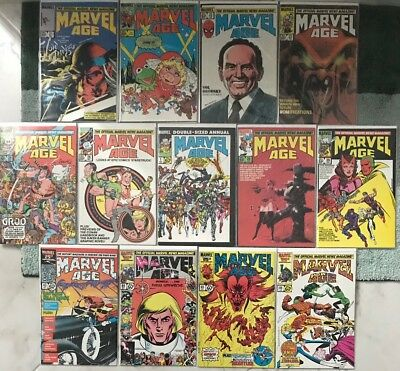 Marvel Age Comic Books - Marvel Comics Lot of 13 Issues Including #1 1985