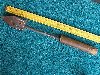 Copper Soldering Iron, Old Vintage. Large Head 110Mm Long X 40Mm Square.guc