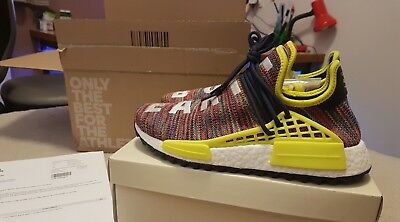 0d9a14d8e Adidas X Pharrell Williams NMD Hu Human Trail Multi color Noble Ink. Size UK