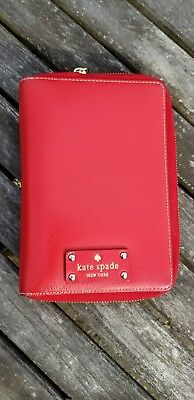Kate Spade Wellesley Personal Agenda Gold Dots Rare HTF Garnet Red
