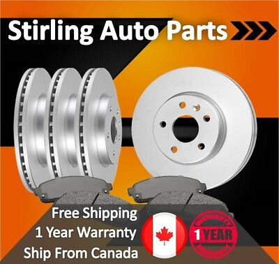 2013 2014 2015 For Ford C-Max Coated Disc Brake Rotors and Pads Hybrid Full Set