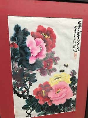 Vintage Antique Chinese Original Art Watercolor Painting Mark