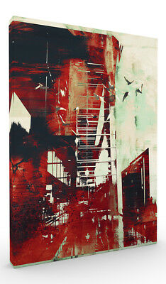 Wall Art, Abstract Cityscape II Stretched Canvas ready to hang