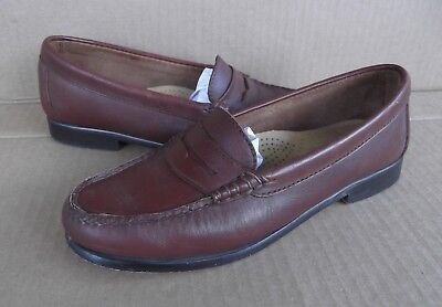 071051ba52d GH BASS Weejuns Brown Leather Loafers Ziggy Size 6.5 M Womens Shoes  FREESHIPPING