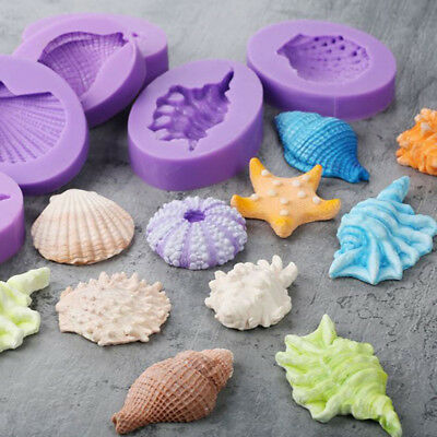Starfish Silicone Soap 3D Conch Cake Mold Shell Fondant Cake Mold Tools Bakeware