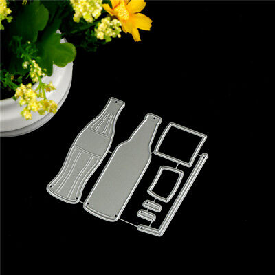 7pcs Cola Bottle Metal Cutting Dies For DIY Scrapbooking Album Paper Cards RA