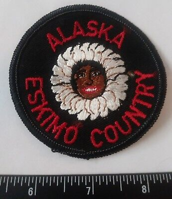Vintage ALASKA ESKIMO COUNTRY State Travel Souvenir Patch Rare AK