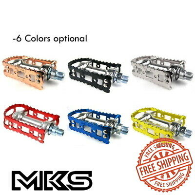 "MKS BM-7 Alloy Anodized MTB BMX Old School Flat Bike 9//16/"" Pedal Black"