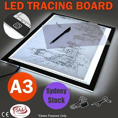 A3 LED Light Box Tracing Board Art Design Stencil Drawing Pad Copy Lightbox SAA