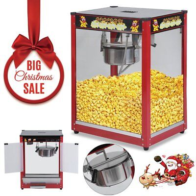 1370W Commercial Stainless Steel Popcorn Machine Red Pop Corn Warmer Cooker SAA