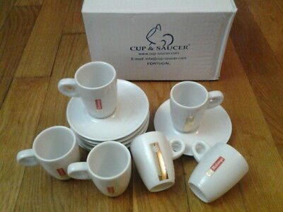 Nouveau Modele !!! Lot 6 Tasses A Cafe + Soucoupes Malongo - Neuves