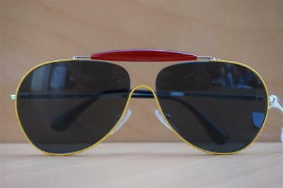 e0ce3f401fef5 New 100% Authentic Unisex Prada SPR56S UFR-2K1 Aviator Gradient Sunglasses   370