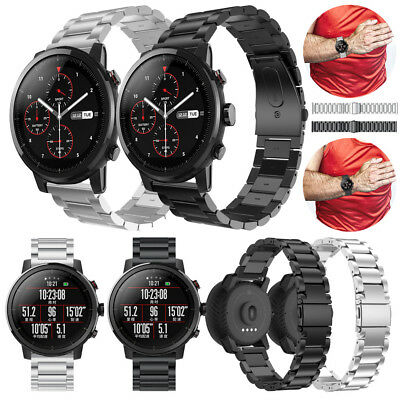 Fashion Stainless Steel Watch Band Strap Metal Clasp For HUAMI Amazfit Stratos 2