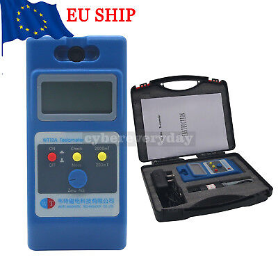 WT10A Gaussmeter Tesla meter Surface Magnetic Field Tester Ns Function +probe DE