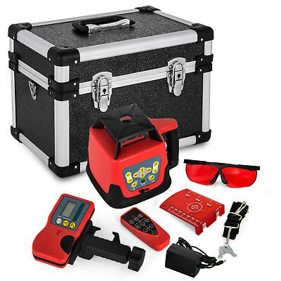 Automatic Rotary Laser Level Red Beam Heavy Duty Self-Leveling Remote Control