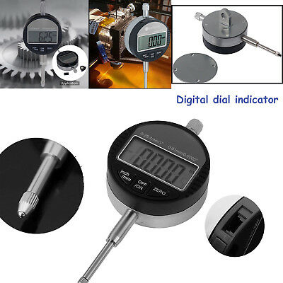 0.01mm/.0005'' 0-25.4mm/1'' Digital Probe Dial Range Indicator Clock DTI Gauge