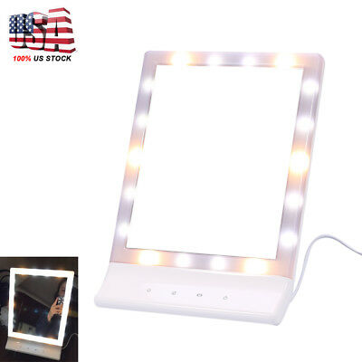 18PC LED Vanity Lighted Hollywood Makeup Mirror with Stage Beauty Mirror Lights