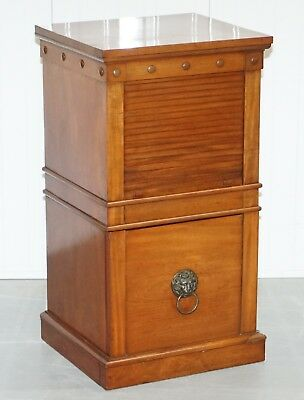 Rare C Hindley And Sons 1766-1895 Satin Walnut Drinks Pedestal Cabinet Tambour
