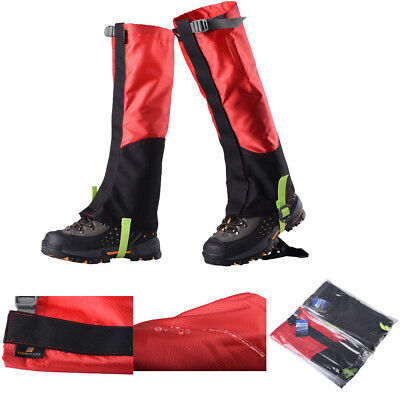 Outdoor Hiking Climbing Waterproof Snow Gaiters Leg Cover Boot Shoe Legging Wrap