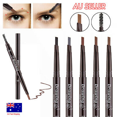 Waterproof Eyebrow Pencil Eye Brow Eyeliner Pen With Brush Makeup Cosmetic MN