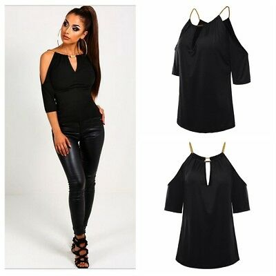 Women's Summer Sexy Cold Off Shoulder Pullover Tops Casual Loose T-Shirt Blouse