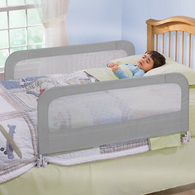 Double Toddlers Bed Guard Rail Folding Safety Frame Infant Bedguard Kids Cot