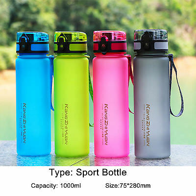 1000ml Outdoor Sports Drinking Water Bottle Leak-Proof Cycling Travel Cup UK New