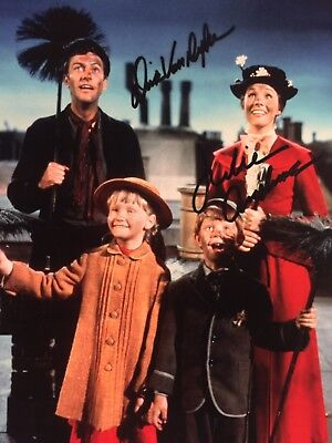JULIE ANDREWS & DICK VAN DYKE 2x SIGNED 8x10 PHOTO MARY POPPINS AUTOGRAPHED