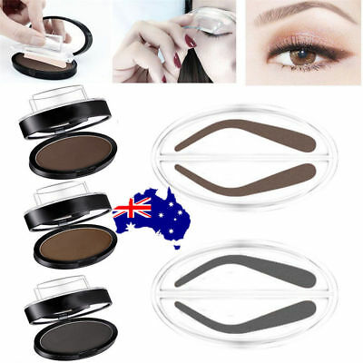 EYEBROW STAMP Powder Palette Natural Definition Brow Makeup Cosmetic Brown MN