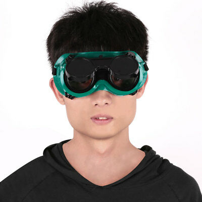 Welding Cutting Welders Safety Goggles Glasses Flip Up Dark Lenses Green