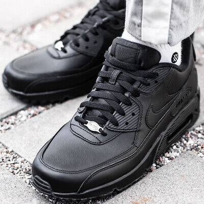 online store 98743 cdc30 NIKE AIR MAX 90 LEATHER sneaker chaussures hommes cuir noir basket  302519-001