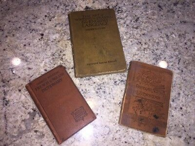 Lot of three antique books 1900s English and French