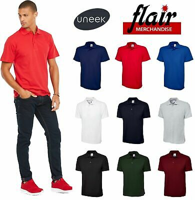 Uneek Olympic Polo Shirt, Active UC124 9 Colours (XS-4XL) Work Wear Causal Top