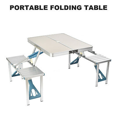 Portable Folding C&ing Picnic Table Chair Set for Garden BBQ Party Outdoor  sc 1 st  PicClick UK & PORTABLE FOLDING CAMPING Picnic Table Chair Set for Garden BBQ Party ...