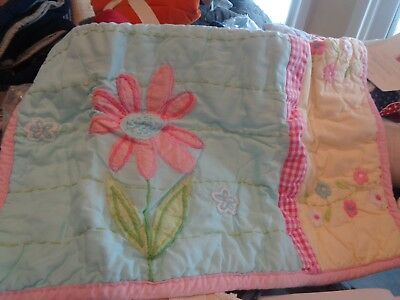 Pottery Barn Kids Daisy Garden small sham crib   New wo tag