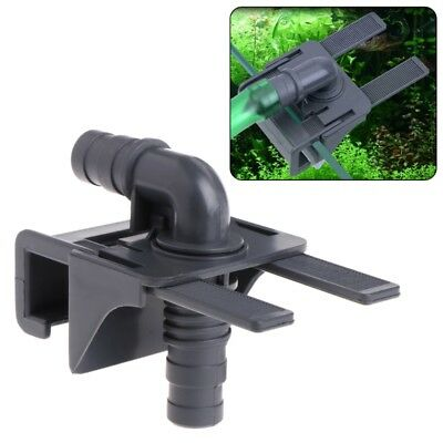 Fish Tank Water Pipe Connector Aquarium Mount Holder Inflow Outflow Stretchable