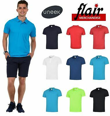 Uneek Ultra Cool Polo Shirt Active UC125 7 Colours (XS-3XL) Work Wear Causal Top