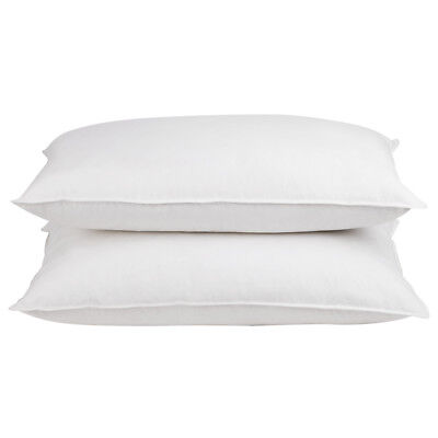 2x Duck Feathers Down Large Pillow Set Cotton Standard Home Hotel Bedding Pack